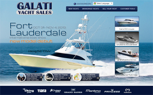 Galati Yacht Sales website