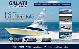 Galati Yacht Sales website