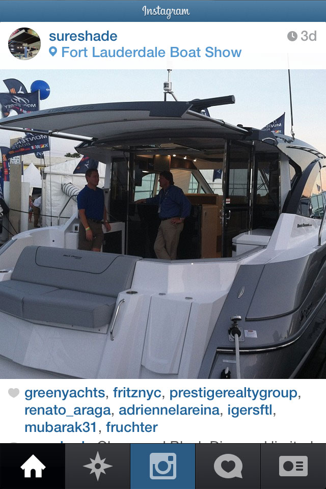 instagram at boat shows