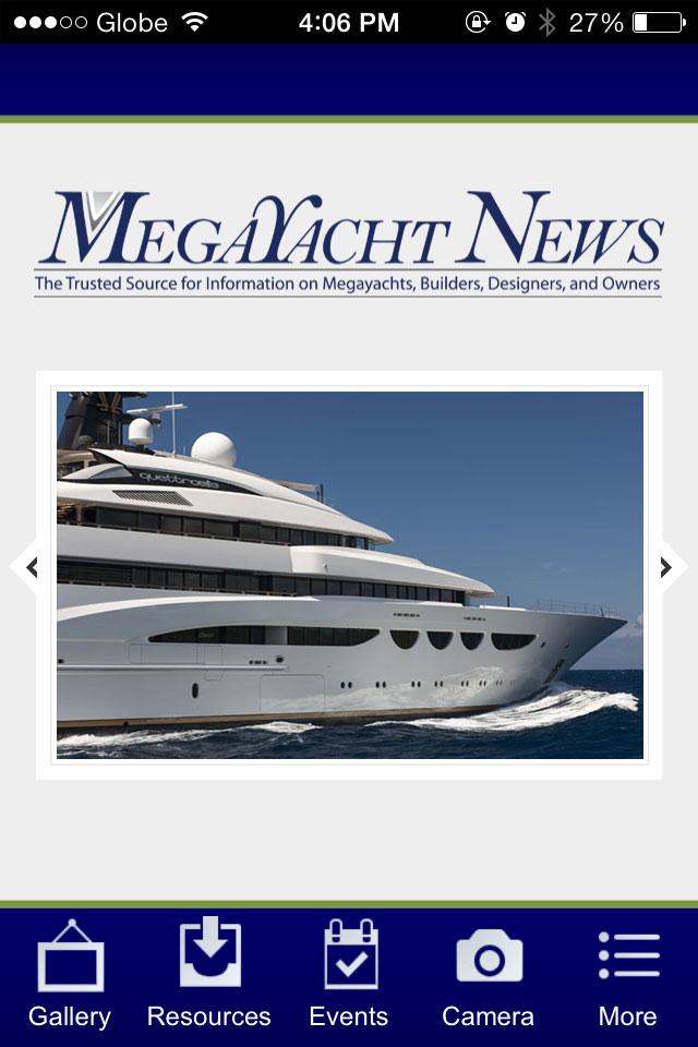 Megayacht News app