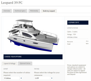 Build own boat web tool