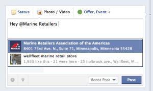 facebook tag example