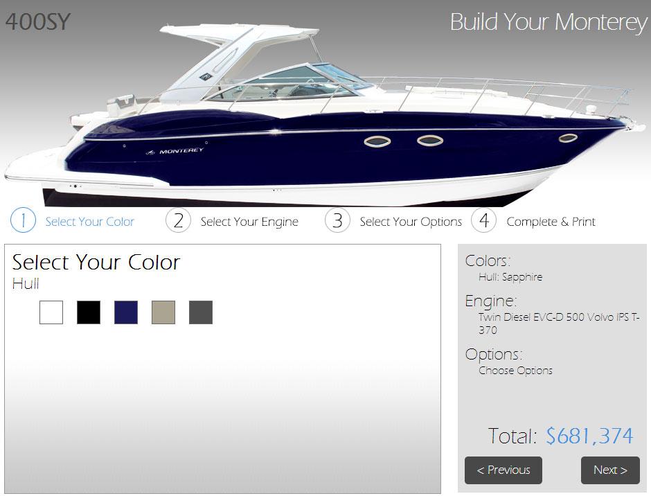 build monterey web site tool