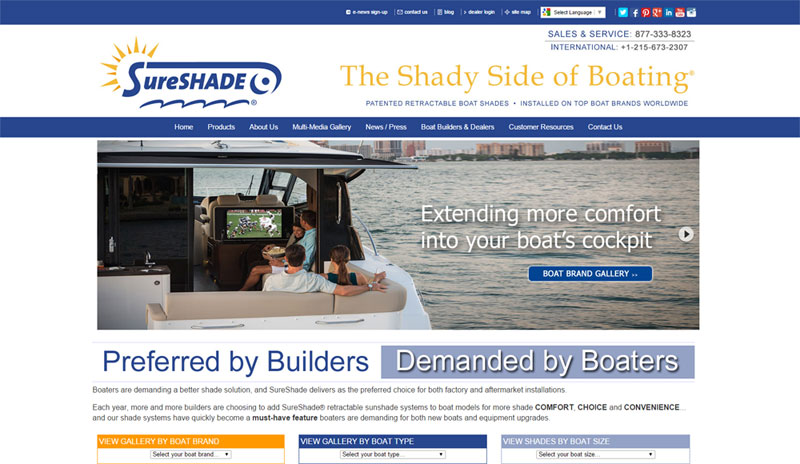 sureshade web site