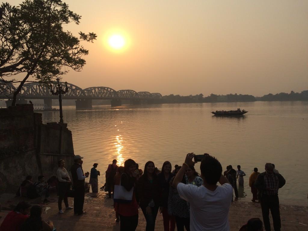 Sunset over the Ganges Kolkotta