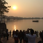 Sunset over the Ganges Kolkotta