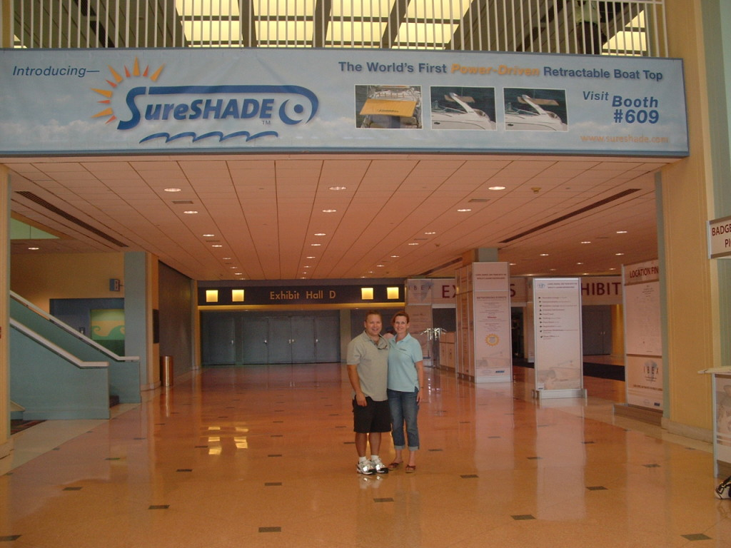 IBEX 2007 introduction of SureShade product and brand to the boating industry.