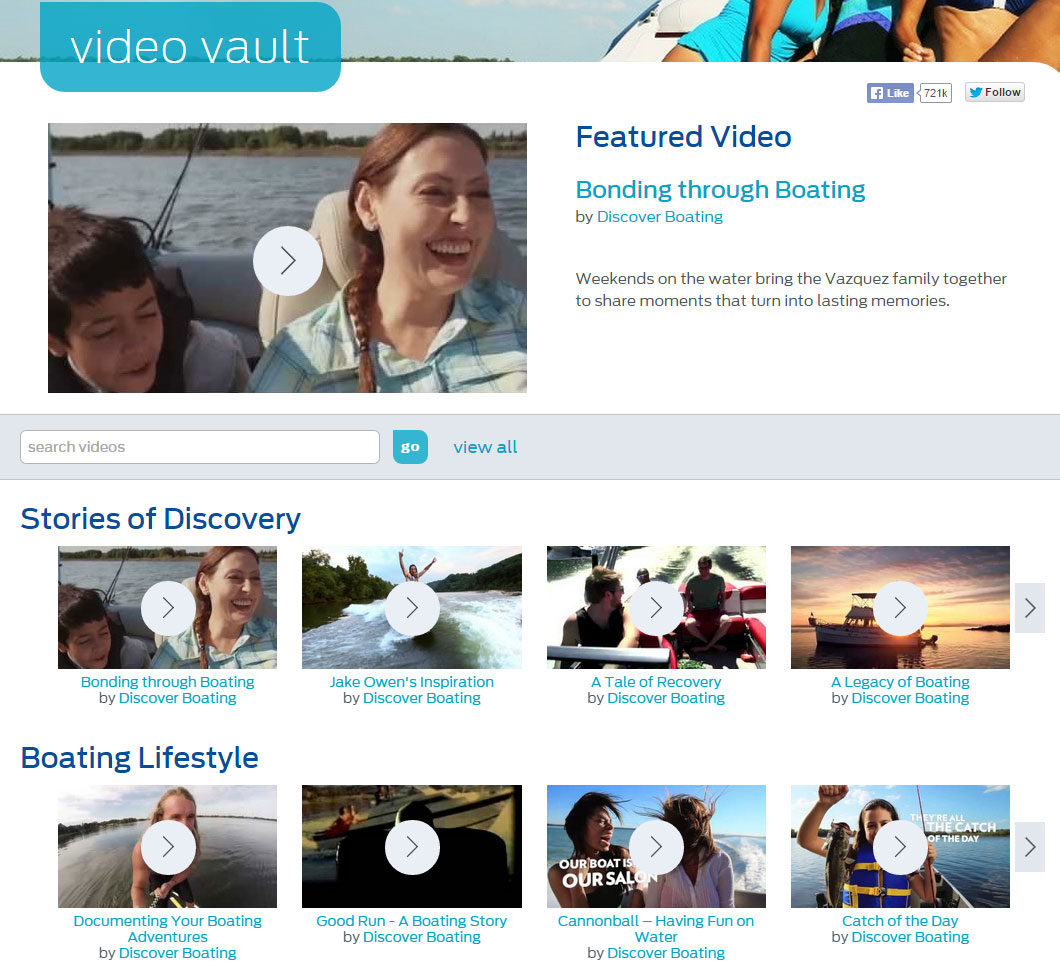 boating video vault