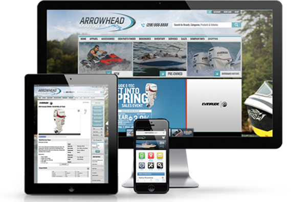 Marine dealer websites