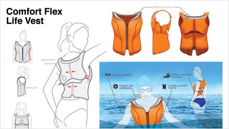 comfort flex life vest