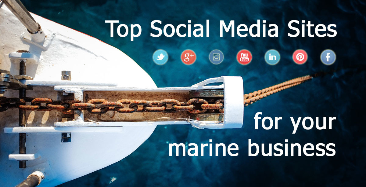 top social media sites marine businesses
