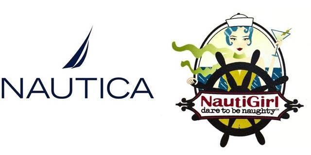 Nautica and NautiGirl logo comparison