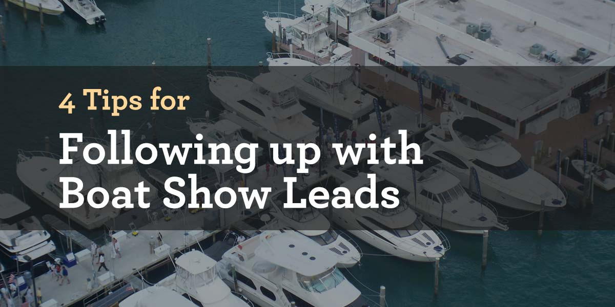 boat show lead followup